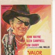 Cine: VALOR DE LEY.JOHN WAYNE.PARAMOUNT. CINE- COLECCIONISMO EN GENERAL-RASTRILLOPORTOBELLO.. Lote 36527582