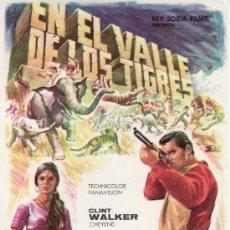 Cine: EN EL VALLE DE LOS TIGRES.-PROGRAMA DE MANO-CINE Y COLECCIONISMO EN GENERAL-RASTRILLOPORTOBELLO.. Lote 20107918