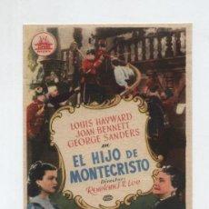 Cine: EL HIJO DE MONTECRISTO. SENCILLO DE CIFESA.. Lote 178604741