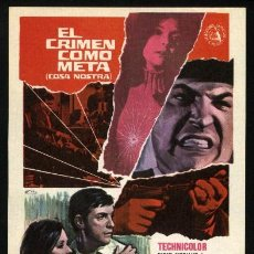 Cine: P-1679- EL CRIMEN COMO META (COSA NOSTRA, ARCH ENEMY OF THE FBI) EFREM ZIMBALIST JR - WALTER PIDGEON. Lote 179012052
