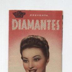 Cine: DIAMANTES. DOBLE DE HISPANIA TOBIS. TEATRO VILLAMARTA. 1942. Lote 19171600