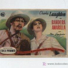 Cine: BANDERA AMARILLA.SENCILLO DE ASTORIA FILMS.CINEMA RÁBIDA.. Lote 19609445