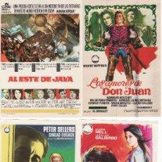 Cine: LOTE DE 4 PROGRAMAS DE CINE-ALTA TENSION,AMOR A LA INGLESA,AL ESTE DE JAVA ,LOS AMORES DE DON JUAN.. Lote 13366778