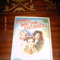 Cine: ESPOSA DOCTOR Y ENFERMERA, LORETTA YOUNG, ORIGINAL 20 CENTURY FOX ! DOBLE !. Lote 25008775