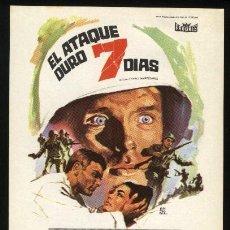 Cine: P-0945- EL ATAQUE DURO 7 DIAS (THE THIN RED LINE) KEIR DULLEA - JACK WARDEN. Lote 204683588