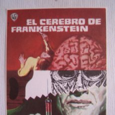 Cine: FOLLETO DE MANO - EL CEREBRO DE FRANKENSTEIN - WARNER PETER CUSHING TERENCE FISHER. Lote 13556582
