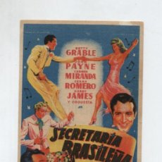 Cine: SECRETARIA BRASILEÑA. SOLIGÓ. SENCILLO DE 20TH CENTURY FOX. CINE ESPAÑOL (TETUÁN). Lote 195164090