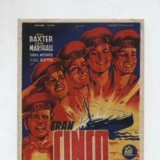 Cine: ERAN CINCO HERMANOS.SOLIGÓ.SENCILLO DE 20TH CENTURY FOX. TEATRO CALDERÓN VALLADOLID. Lote 13626532