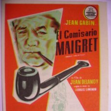 Cine: EL COMISARIO MAIGRET. Lote 108260170