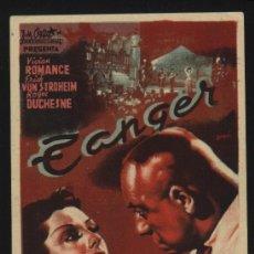 Cine: P-6406- TANGER (GIBRALTAR) (VIVIANE ROMANCE - ERIC VON STROHEIM - ROGER DUCHESNE). Lote 22577939