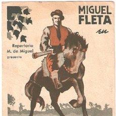 Cine: EL ULTIMO CONTRABANDISTA PROGRAMA DOBLE M. DE MIGUEL CINE ESPAÑOL MIGUEL FLETA. Lote 19048329