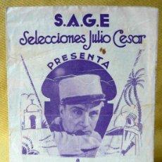 Cine: EL SARGENTO X, PROGRAMA DOBLE CINE, SAGE, IVAN MOSJOVKINE, SUZY VERNON, Y JEAN ANGELO, 1933. Lote 13717084