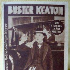 Cine: LAS CALLES DE NUEVA YORK (THE SIDEWALKS OF NEW YORK) , PROGRAMA CINE, METRO, BUSTER KEATON, 1931. Lote 13744761