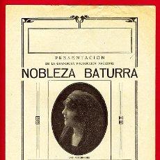 Cine: NOBLEZA BATURRA, CINE MUDO, DOBLE , S1598. Lote 19593837