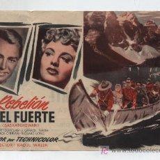 Cine: REBELIÓN EN EL FUERTE. DOBLE DE UNIVERSAL INTERNATIONAL. CINE PLAZA DE TOROS (LINARES). Lote 19378642
