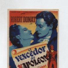 Cine: EL VENCEDOR DE NAPOLEÓN. SOLIGÓ. SENCILLO DE 20TH CENTURY FOX. TEATRO MARÍA LUISA (MÉRIDA) 1947. Lote 13936190