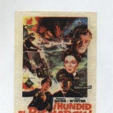 Cine: ¡HUNDID EL BISMARCK!. SENCILLO DE 20TH CENTURY FOX. TEATRO ATLANTE (OROTAVA) 1962. Lote 13939114