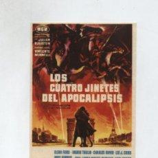 Cine: LOS CUATRO JINETES DEL APOCALIPSIS. SENCILLO DE MGM.. Lote 19419325