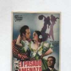 Cine: EL PASADO AMENAZA. SENCILLO DE EMISORA FILMS.. Lote 14008359