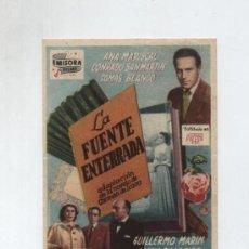 Cine: LA FUENTE ENTERRADA. SENCILLO DE EMISORA FILMS. CINE JARDÍN. Lote 14008439
