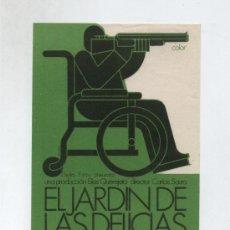 Folhetos de mão de filmes antigos de cinema: EL JARDÍN DE LAS DELICIAS. SENCILLO DE DELTA FILMS.. Lote 14021834