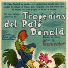 Cine: ARAJOL - WALT DISNEY - TRAGEDIAS DEL PATO DONALD - DONALD DUCK. Lote 7727899