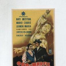 Cine: ORO Y MARFIL. SENCILLO DE HERNAN FILMS.. Lote 14058844