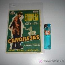Cine: FOLLETO DE MANO DE LA PELICULA CANDILEJAS DE CHARLES CHAPLIN. Lote 14105693