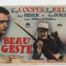 Cine: BEAU GESTE. SENCILLO DE PARAMOUNT.. Lote 19558156