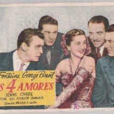 Flyers Publicitaires de films Anciens: MIS 4 AMORES. SENCILLO DE PARAMOUNT. CINE ATENEO-CELRÁ 1949. Lote 14146864