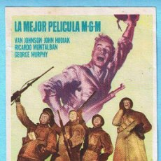 Cine: FUEGO EN LA NIEVE. VAN JOHNSON, RICARDO MONTALBAN. DIR. WILLIAM A. WELLMAN. Lote 14185368