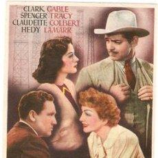 Cine: FRUTO DORADO - CLARK GABLE, SPENCER TRACY, CLAUDETTE COLBERT, HEDY LAMAR - DIRECTOR JACK CONWAY. Lote 26159323