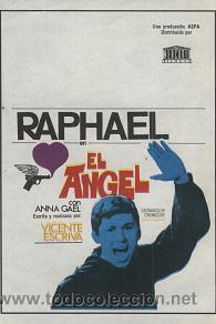 EL ÁNGEL (PELÍCULA DE RAPHAEL) (Cine - Folletos de Mano - Clásico Español)