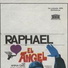Cine: EL ÁNGEL (PELÍCULA DE RAPHAEL). Lote 14362238