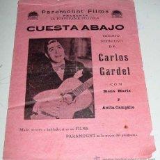 Cine: ANTIGUO PROGRAMA O FOLLETO CANCIONERO DE CINE - EL TANGO EN BROADWAY - CON PUBLICIDAD DE PARAMOUNT. Lote 24951063
