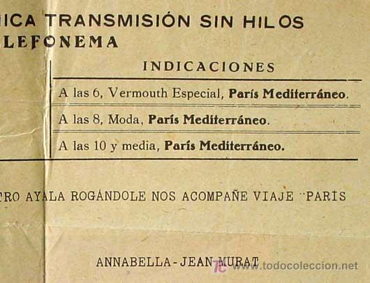 PARIS - MEDITERRANEO, J. CESAR, RARO PROGRAMA CINE AYALA, TELEFONEMA DE ANNABELLA - JEAN MURAT 1930S (Cine - Folletos de Mano)