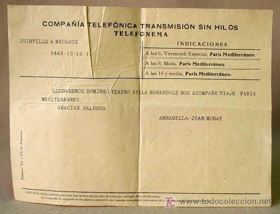 Cine: PARIS - MEDITERRANEO, J. CESAR, RARO PROGRAMA CINE AYALA, TELEFONEMA DE ANNABELLA - JEAN MURAT 1930s - Foto 2 - 14394887