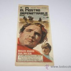 Cine: EL ROSTRO IMPENETRABLE MARLON BRANDO MIDE 17X10 CINE BOHEMIO Y GALILEO AÑO 1962. Lote 14400600
