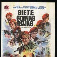 Cine: P-0786- SIETE BOINAS ROJAS (SETTE BASCHI ROSSI (THE SEVEN RED BERETS)) IVAN RASSIMOV. Lote 23189777