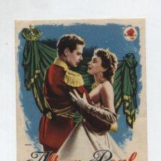 Foglietti di film di film antichi di cinema: ALTEZA REAL. SENCILLO DE ROSA FILMS. ¡IMPECABLE!. Lote 14456418