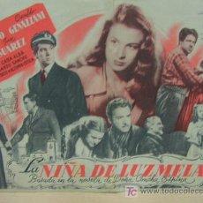 Cine: + LA NIÑA DE LUZMELA, CINE ELISEOS, ZARAGOZA. Lote 15840181