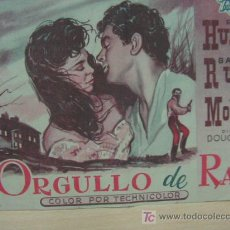 Cine: + ORGULLO DE RAZA, CINE PALAFOX ZARAGOZA, ROCK HUDSON. Lote 14468470