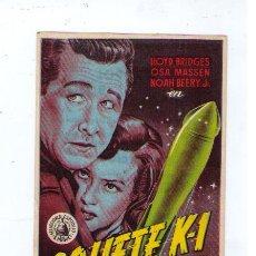Cine: COHETE K-1. SENCILLO DE CAPITOLIO. CINES: CAPITOL, METROPOL Y BOSQUE.. Lote 19699554