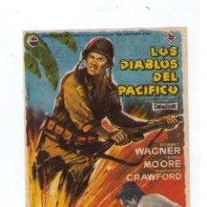 Cine: LOS DIABLOS DEL PACÍFICO. SENCILLO DE 20TH CENTURY FOX. TEATRO FLETA (ZARAGOZA) 1961. Lote 14514583
