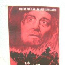 Cine: + LA KERMESSE ROJA ANTIGUO PROGRAMA DE CINE. Lote 14468659