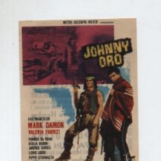 Cine: JOHNNY ORO. SENCILLO DE MGM.CINES:CAPITOL,DUQUE Y METROPOL (MÁLAGA) 1965. ¡IMPECABLE!. Lote 14483648