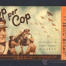 Cine: COP PER COP. REPORTAJE MANIOBRAS DEL EJERCITO POPULAR DE LA URSS. 1938. DOBLE. TEXTO EN CATALAN. Lote 14498228