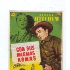 Cine: CON SUS MISMAS ARMAS.SENCILLO DE UNITED ARTISTS. SALA EDISÓN-FIGUERAS. Lote 14502359