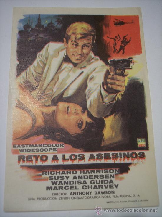 RETO A LOS ASESINOS (RICHARD HARRISON - SUSY ANDERSEN) (Cine - Folletos de Mano - Suspense)