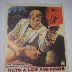 Cine: RETO A LOS ASESINOS (RICHARD HARRISON - SUSY ANDERSEN). Lote 22527403